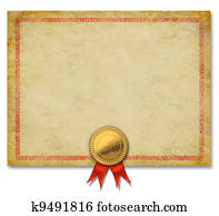 drawing of blank diploma or certificate border k4744553 search