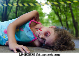 Child victim of a car accident