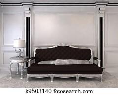Luxurious sofa in modern interior