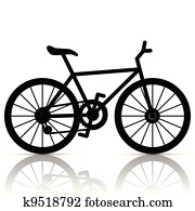 Bicycle Clip Art And Illustration 50 302 Bicycle Clipart Vector Eps