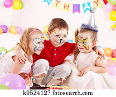 Child birthday party .
