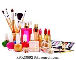 Decorative cosmetics and perfume.