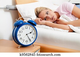 clock with sleep at night.