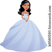 Girl Dressed in Princess Gown