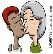 lesbische kus verleiden