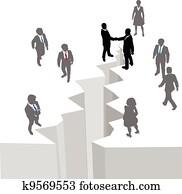 People handshake agreement close deal gap