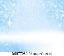 Snowy Blue Background