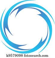 water waves logo vector
