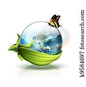 Environment planet concept