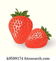 Fresh vector strawberries