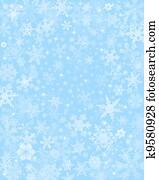 Subtle Blue Snow Background