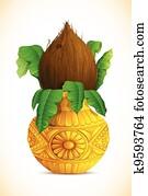 Mangal Kalash with Coconut
