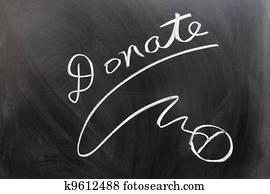 Donate and mouse sign