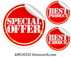 Special offer, best product and bes