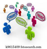 Trust People Speech Bubbles Loyalty Confidence