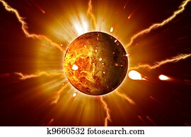 Red Planet Sun Flares Storm