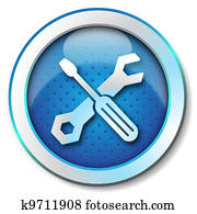 Tool repair web icon