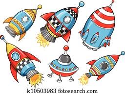 宇宙船 宇宙船 ロケット Ufo クリップアート K14925826 Fotosearch
