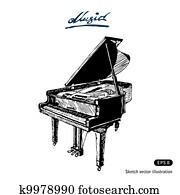 グランドピアノ クリップアートベクトル 1000 グランドピアノ Eps