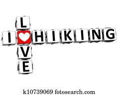 3D I Love Hiking Crossword