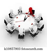 3d man business conference concept