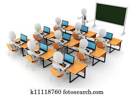 3d man, - classroom