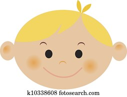 A boy with blonde hair