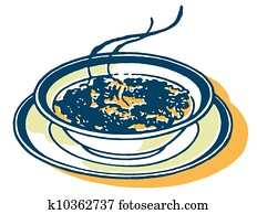 A print of a bowl of soup