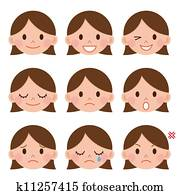 A young girl emotions