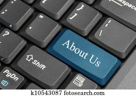 About us on keyboard