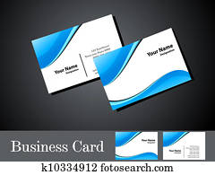 abstract blue wave business card