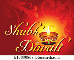 abstract shubh diwali card