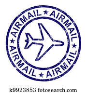 Airmail Stamp Shows International Mail Delivery
