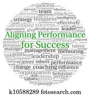 Aligning Performance concept in word tag cloud