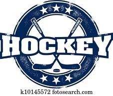 altmodisch, hockey, sport, briefmarke
