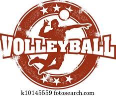 altmodisch, volleyball, sport, briefmarke