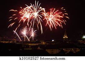 Annecy Bastille Day Fireworks Old City