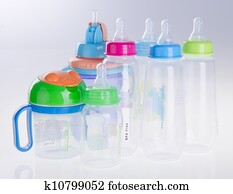 baby bottle, baby bottle on background