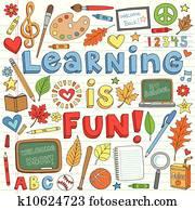 Back to School Learning Doodles Set