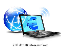 Banking online Pay by internet Euro