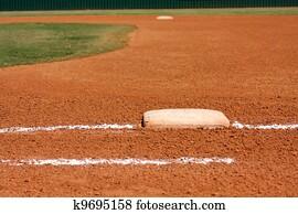 Baseball Field at First Base Line
