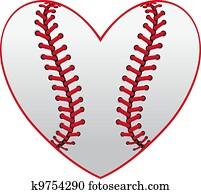 baseball, herz