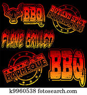 BBQ Rubber Stamp