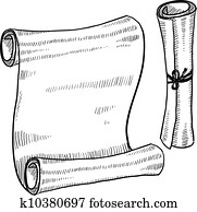 Blank scroll or document sketch