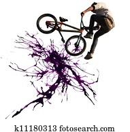 BMX cycling illustration