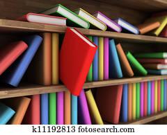 Tekening - boekenkast k9014523 - Zoek Clipart, Illustratie, Fine Art ...