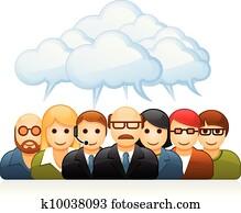 brainstorming, mitarbeitergruppe