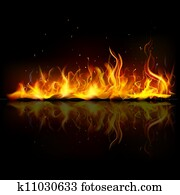 brennender, feuer, flamme