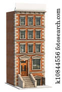 Brick Building Illustration