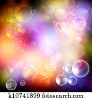 Bubble and bokeh. Abstract spa and health backgrounds